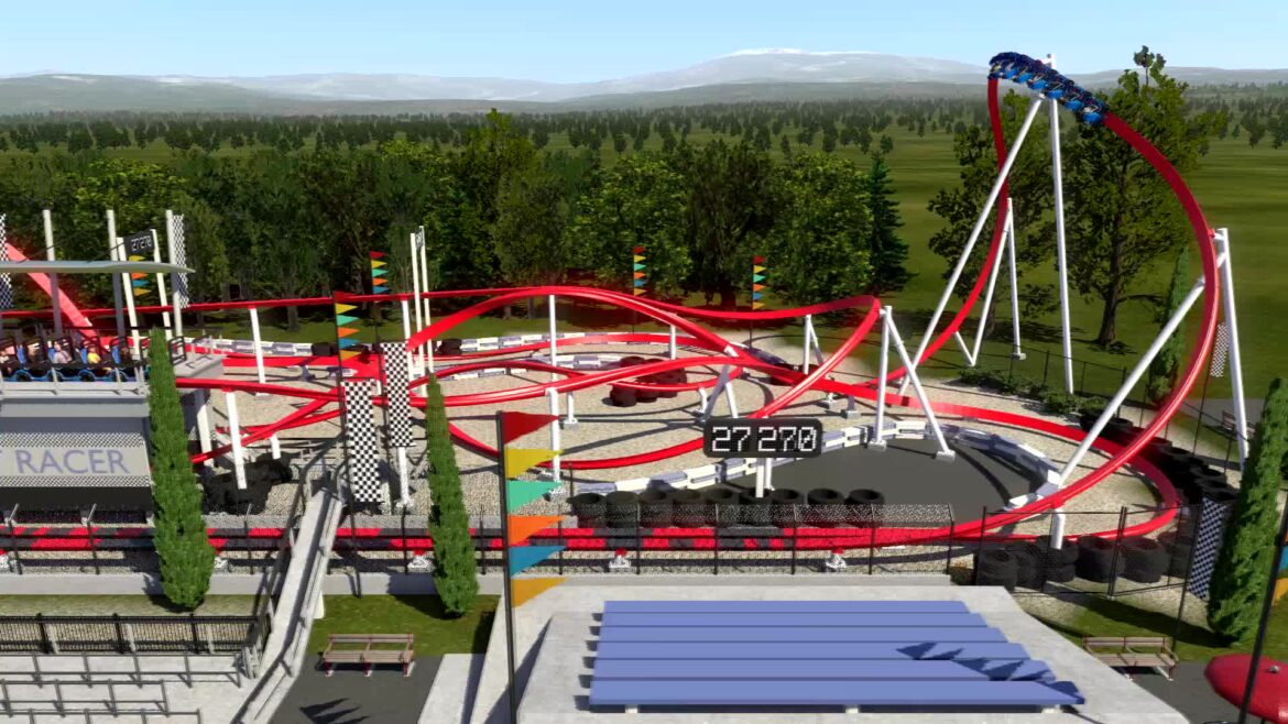 Overdrive Hot Racer – Launched Single-Rail Roller Coaster