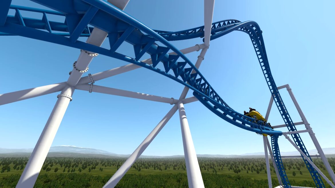 Vertical LSM Roller Coaster, Compact LSM Launch Coaster
