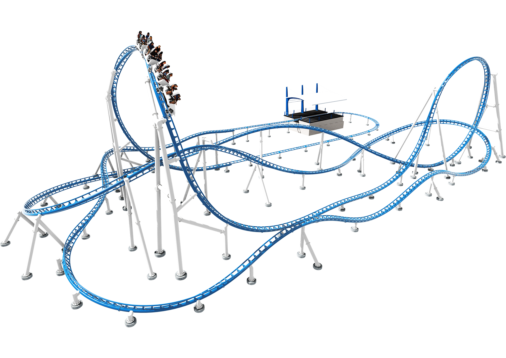 Intamin Sample Layout LSM Single Launch Roller Coaster