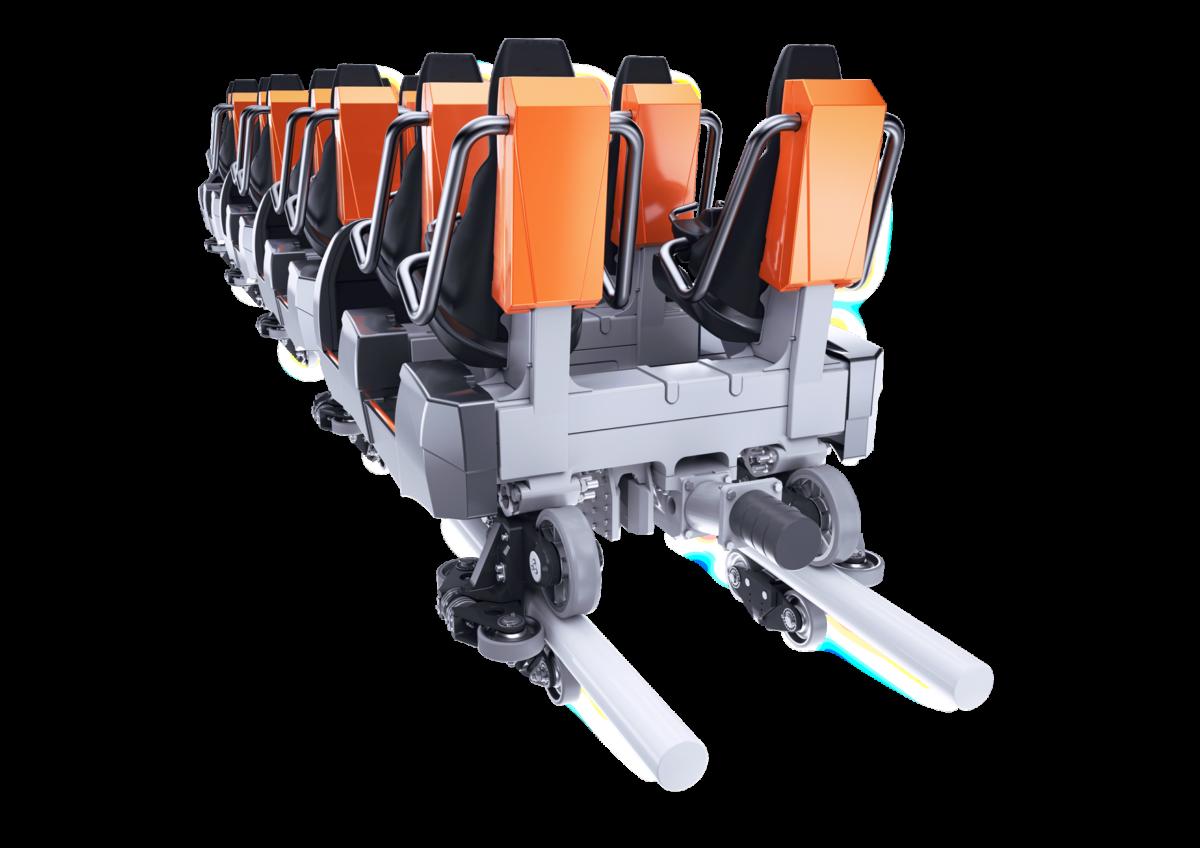 Intamin LSM Coaster Train Back View