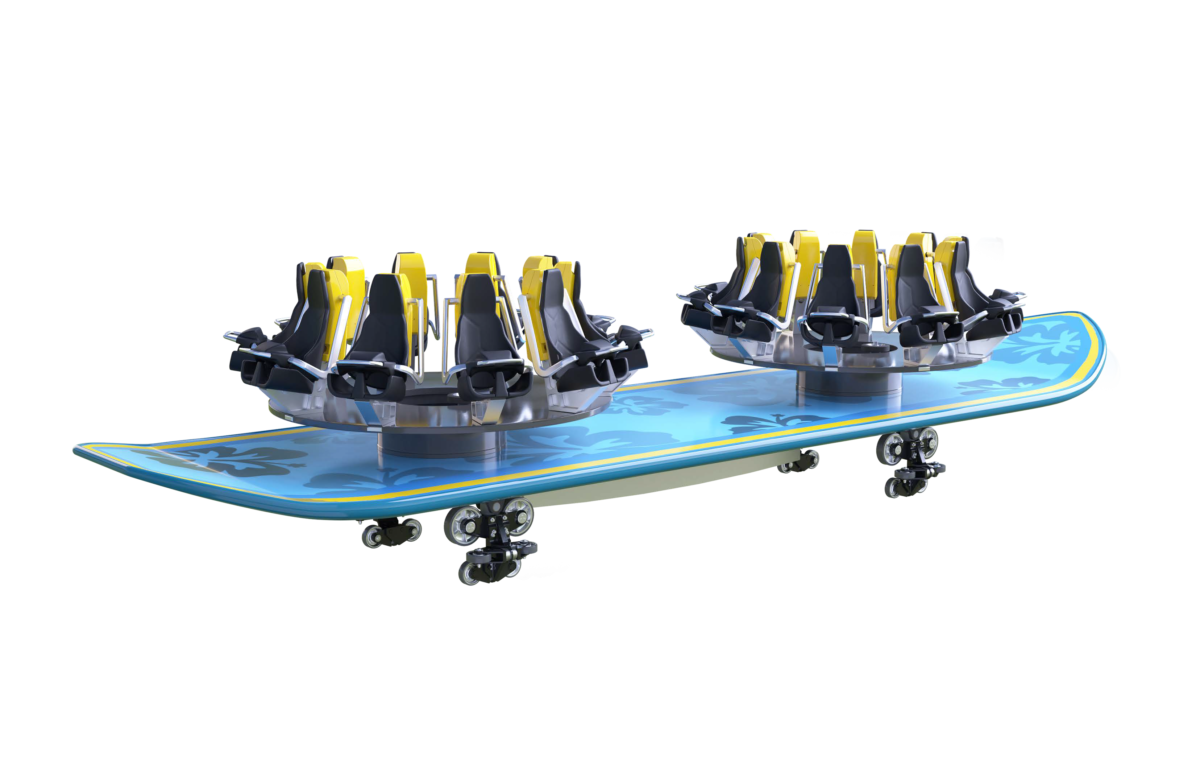 Intamin Surf Family Vehicle Perspective View