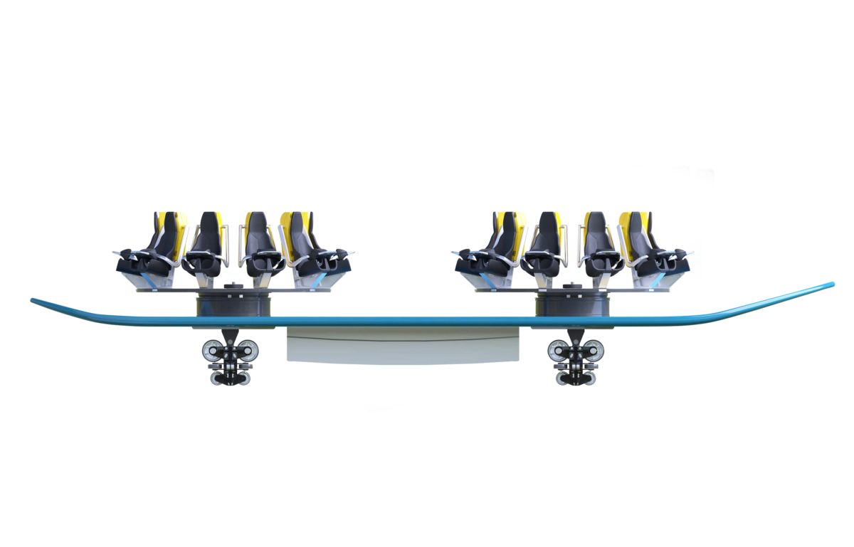 Intamin Surf Family Vehicle Side View