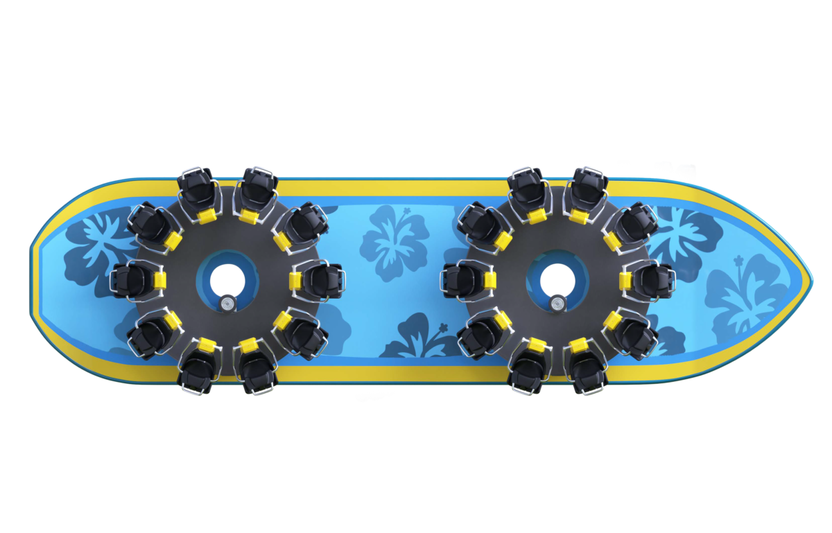 Intamin Surf Family Vehicle Top View