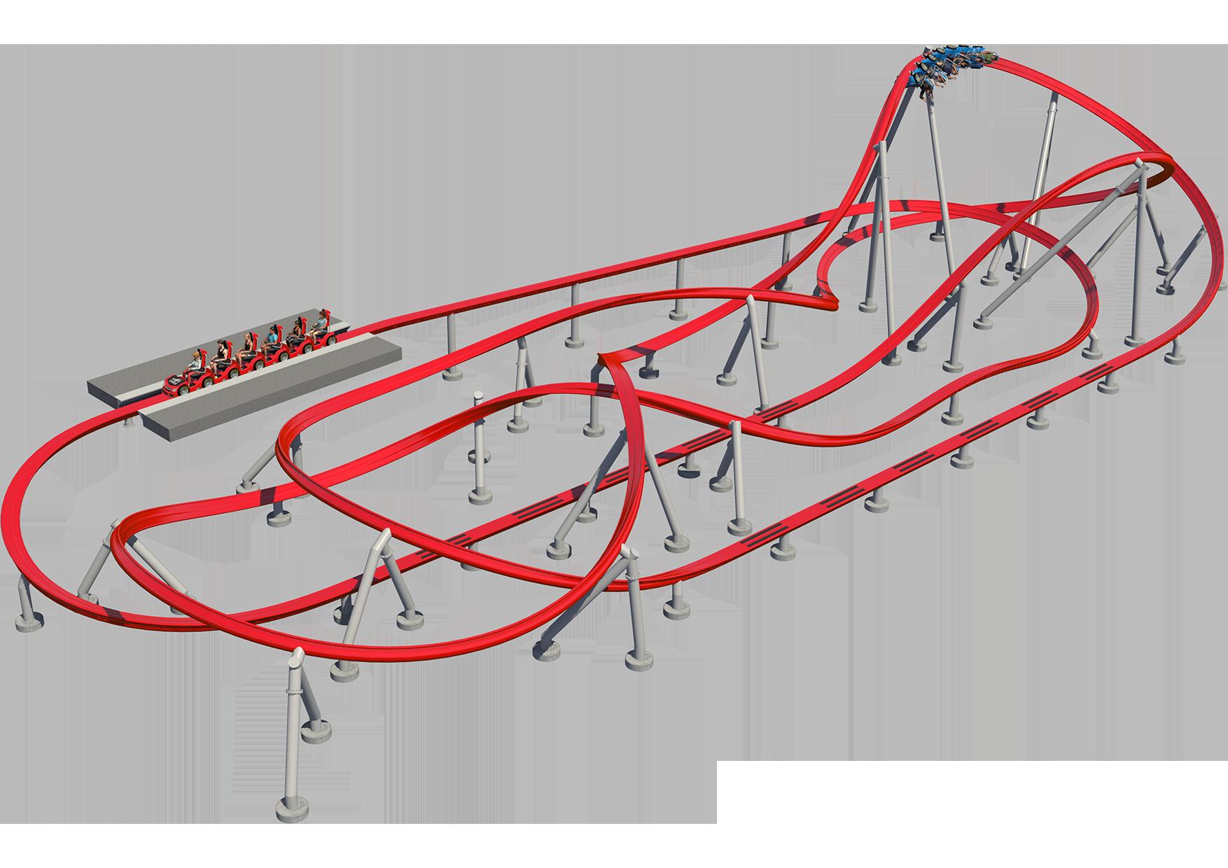 Intamin Sample Layout Hot Racer Criss Cross Roller Coaster