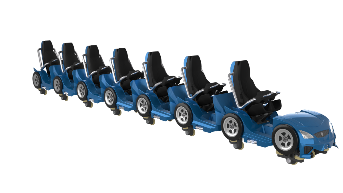 Intamin Hot Racer Train Perspective View